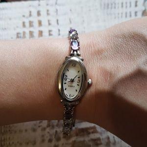 "Jewelry - Genuine Amethyst Watch 7.5 to 8"" adjustable"